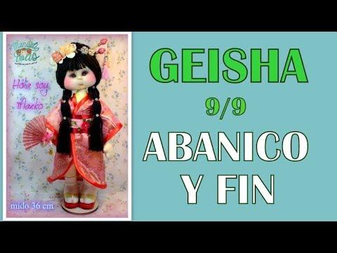 muñeca geisha Maeko , abanico 9/9 video- 308