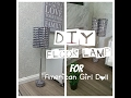 DIY Modern Floor Lamp for American Girl Doll