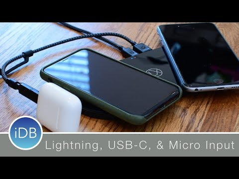 Lxury Wireless Charger has Lightning, USB C, and Micro USB Input
