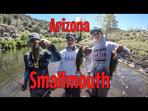 CATCHING 80+ SMALLMOUTH!! ON INDIAN RESERVATION IN ARIZONA!! 2017 (HD AND UNDERWATER FOOTAGE)