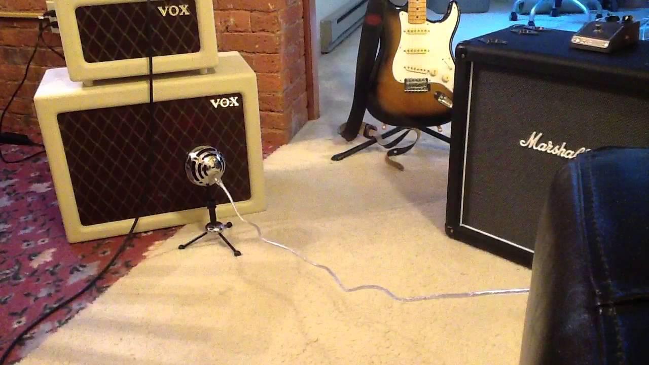 Vox AC4 into TV112 Cab - YouTube