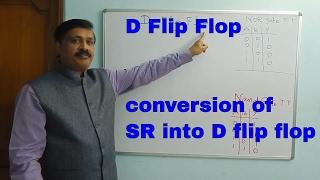 D FF(İngilizce)içine D flip flop - Dönüşüm SR Flip-flop