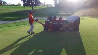 Aerial of Full Greens Aerification with CoreMax48