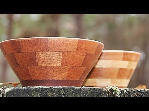 Segmented bowls the easy way   woodturning