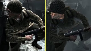 Medal of Honor Airborne Trailer vs Retail PC Graphics Comparison