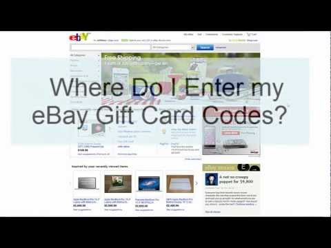 Where Do I Enter My Ebay Gift Card Codes Junowallet Bamboowallet Faq S Youtube