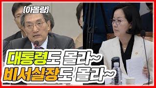 김현아 의원에게 제대로 걸린 청와대 비서실장, 모른다고 잡아떼다 혼나는 중