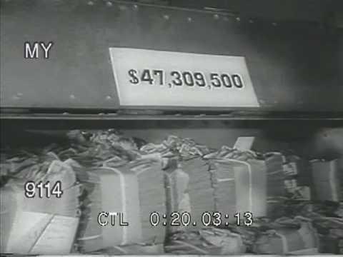 Stock Footage - Burning Money To Make New Money