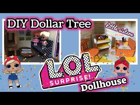 DIY DOLLAR TREE LOL SURPRISE Dollhouse | Miniature Furniture