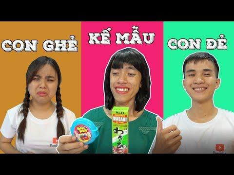 MẸ GHẺ CON CHỒNG Kẹo Hubba Bubba Chan Nước Mắt...bất Công!!!