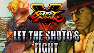 KEN V RYU...SHOTO BATTLE - Road to Platinum (Street Fighter V Ranked)