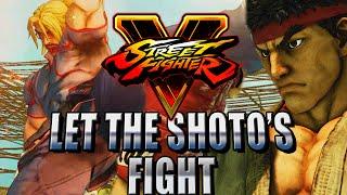 KEN V RYU...SHOTO BATTLE - Road to Platinum (Street Fighter V Ranked)