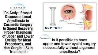 Eyelid Surgery and Other Cosmetic Surgeries Can Be Done without General Anesthesia