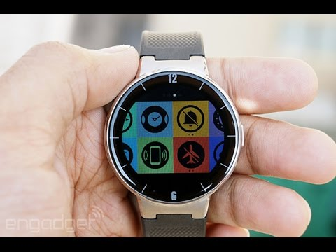 Alcatel OneTouch ... iOS and Android in One Watch (150$) ساعة الكاتيل الذكية