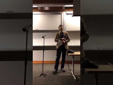 Misha Collins delivering social media marketing lecture at Western Washington University