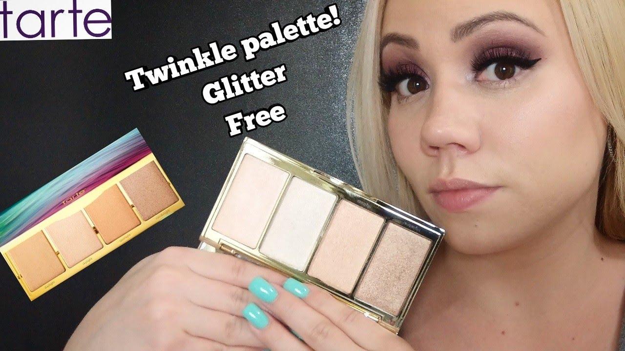 Tarte Highlighter Palette Skin Twinkle Lighting Palette Volume 2 Swatch Review Fair Skin 2019