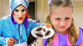 Nastya conoce a una extraña niñera, historias divertidas para niños