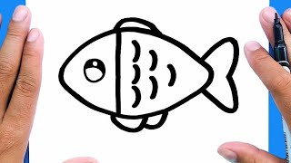 How to draw a cute fish, Draw cute things