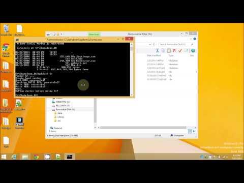 How To Create Clover or Chameleon USB Mavericks 10.9.4 Installer In Windows 8 1 No Mac