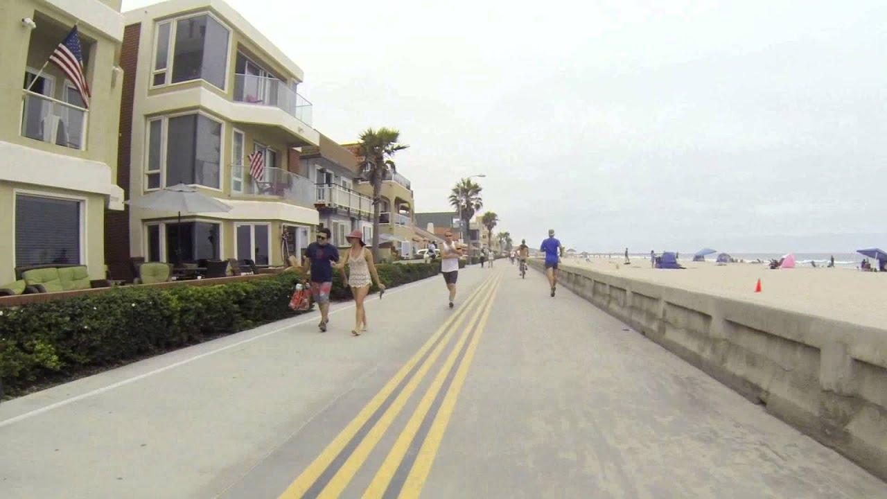 Biking Mission Beach Boardwalk - 4th of July - GoPro 3 ...