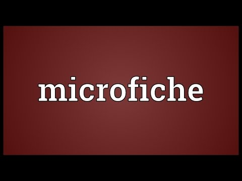 Microfiche Meaning