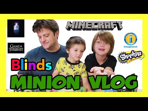 Opening Blinds (Minion Vlog) Shopkins, LPS, Doctor Who, Imaginext, Inside Out- Day 803   ActOutGames