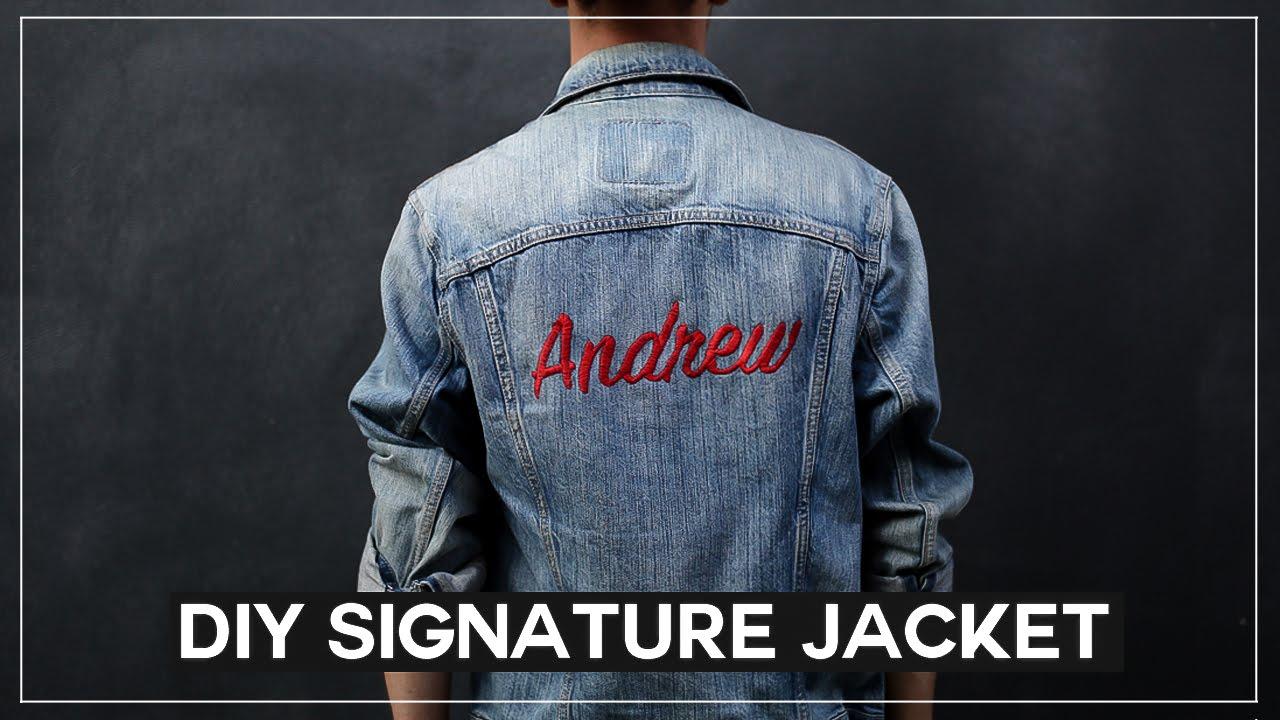 DIY Embroidered Signature Jacket