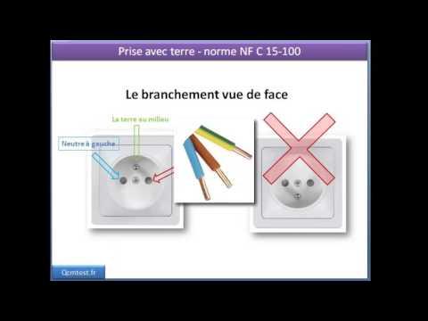 Comment brancher les fils lectrique dans une prise murale youtube - Branchement prise electrique couleur fil ...