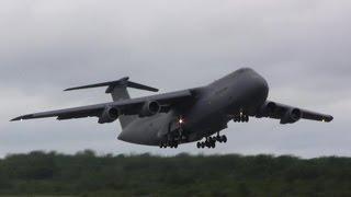 C-5 Galaxy Screaming Takeoff !!!