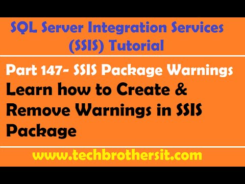 Welcome To TechBrothersIT: How to Remove Warnings in SSIS