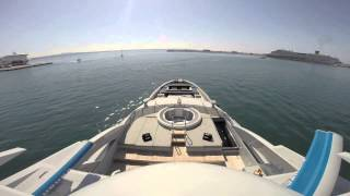 Palma to Port Adriano super yacht berthing