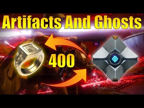 Destiny - How To Get 400 Light Artifacts And Ghosts! (Best Ways)