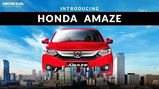 Honda Amaze 2018 Official Video - Trailer, Introduction, Commercial