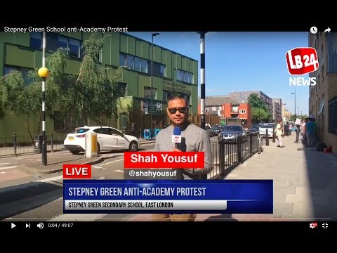 Stepney Green School anti-Academy Protest