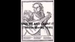 Sing We And Chant It (T. Morley, 1596), mandolin consort of 5