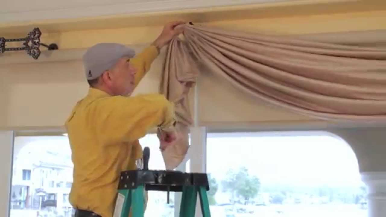 Draping Curtains Video 36 Diy Drapery Luxurious Window Treatments With Valances Swags Scrolls And Holdbacks
