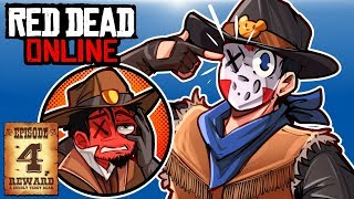 I GET HOGTIED & WE NAME OUR POSSE! - RED DEAD ONLINE - Ep. 4!