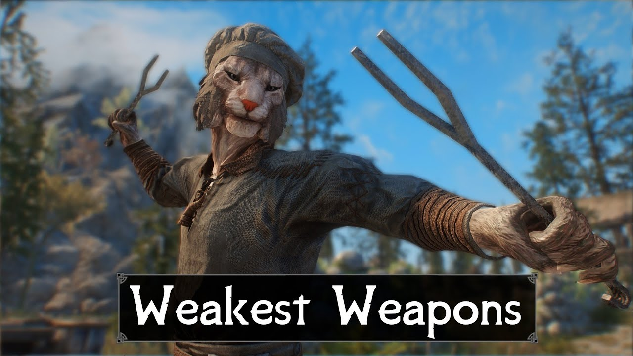 Skyrim: Top 5 Weakest Weapons You May Have Missed in The Elder Scrolls 5: Skyrim thumbnail