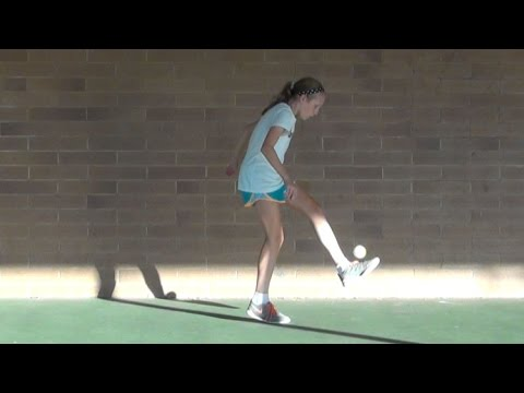 Tennis Ball Ladder Juggling Skill Challenge | Katelyn Penner