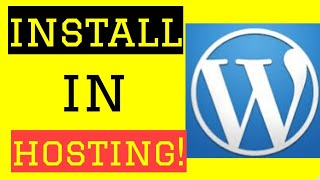 How To install WordPress in hosting|install WordPress in infinity free hosting| must watch very easy