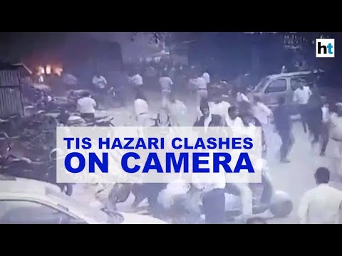 CCTV shows lawyers rough up woman police officer in Tis Hazari court