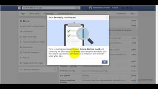 Facebook authentifier ma page