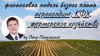 Бизнес план агрохолдинга (сельское хозяйство, фермерское хозяйство, КФХ)