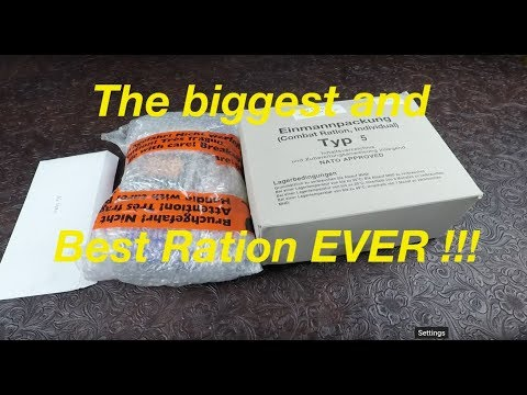 HUGE !!! German EPA 24 Hour Ration Review Type 5 With HUGE EXTRAS !!!