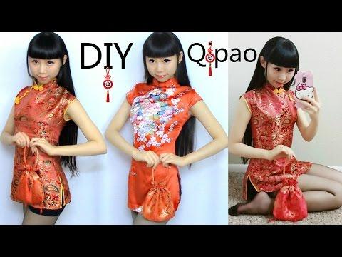 4317fb40e DIY Qi Pao/Cheongsam+Pattern Making   DIY Traditional Chinese New Year Dress  - YouTube