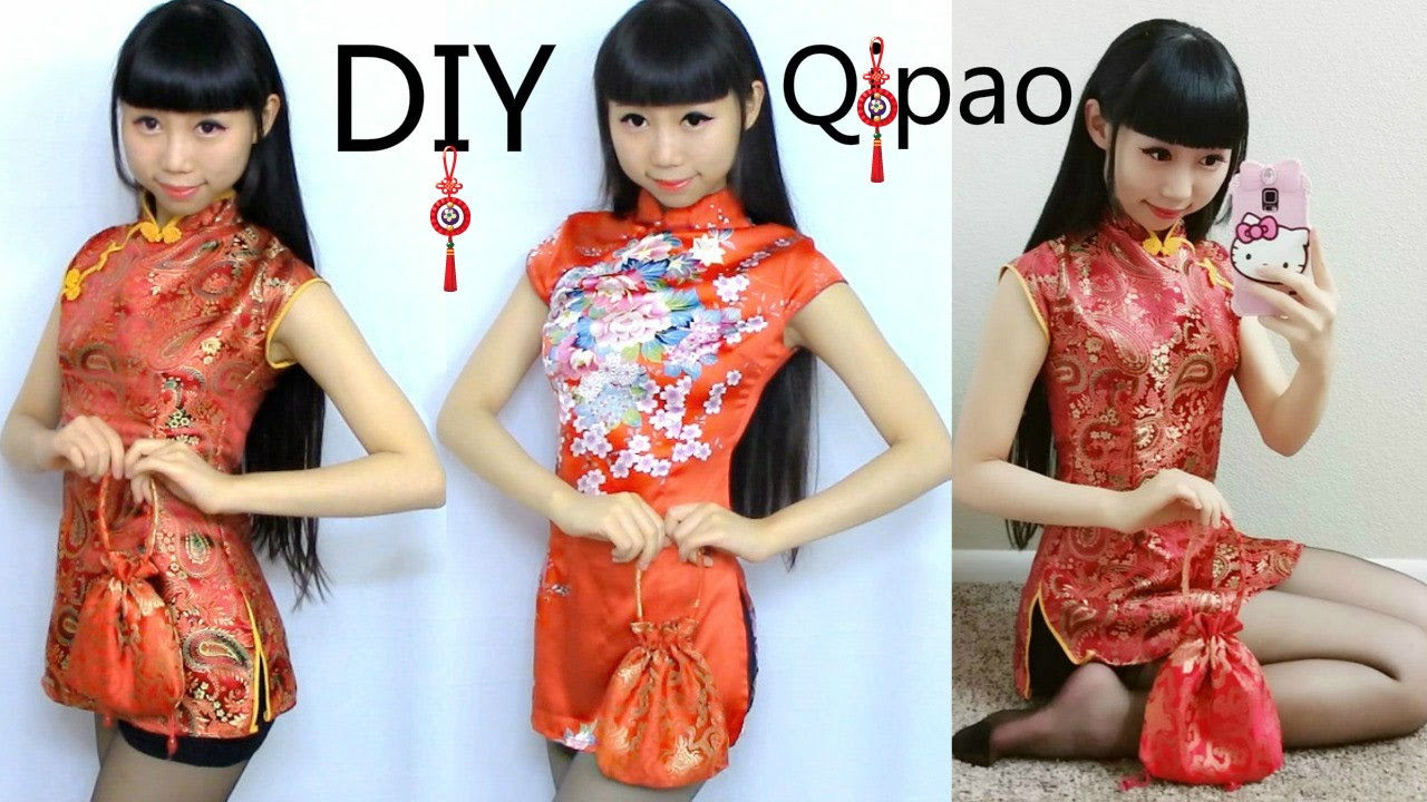 diy qi pao cheongsam pattern making diy traditional chinese new