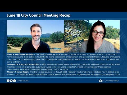 June 15 San José City Council Recap