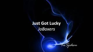 Just Got Lucky - JoBoxers (Lyrics) HQ Audio