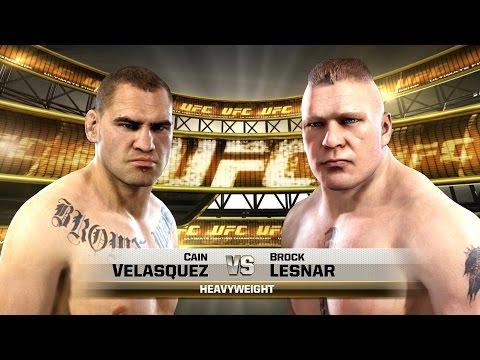 EA Sports UFC - Brock Lesnar vs Cain Velasquez - New Fighters Update (1080p)   PS4