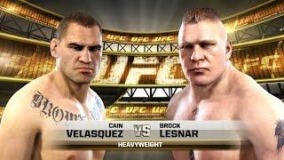 EA Sports UFC - Brock Lesnar vs Cain Velasquez - New Fighters Update (1080p) | PS4